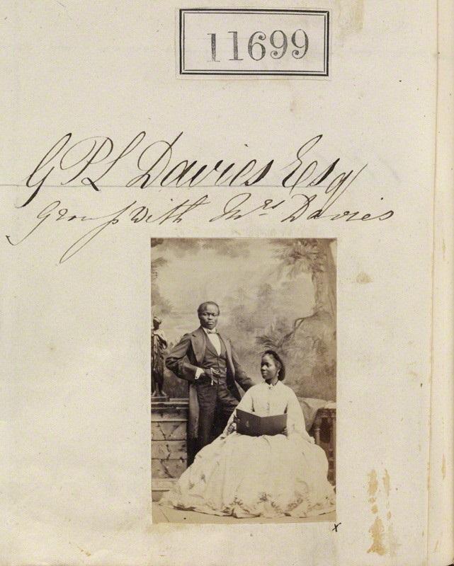 NPG Ax61382; James Pinson Labulo Davies; Sarah Forbes Bonetta (Sarah Davies) by Camille Silvy