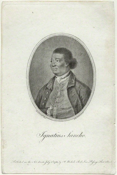 NPG D23441; Ignatius Sancho by Francesco Bartolozzi, published by  John Bowyer Nichols, after  Thomas Gainsborough